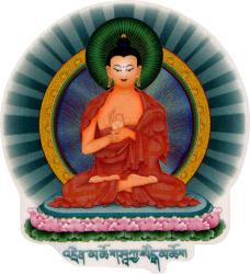 WA408 Teaching Buddha - Window Sticker