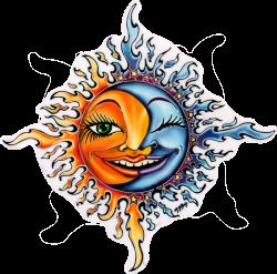 Moon Sun - Window Sticker