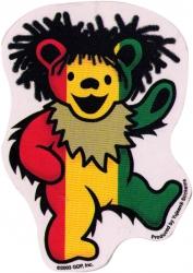 "Rasta Dancing Bear - Grateful Dead - Window Sticker / Decal (3"" X 4"")"
