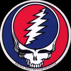"Steal Your Face - Grateful Dead - Window Sticker / Decal (5"" Circular)"