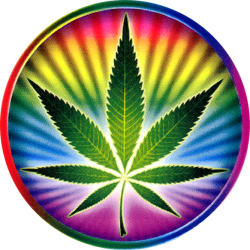 Psychedelic Pot Leaf - Window Sticker