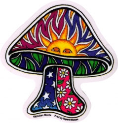 "Sun Mushroom - Window Sticker / Decal (4"" x 4"")"