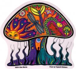 """Dan Morris Mushroom - Window Sticker / Decal (4"""" x 3.75"""")"""