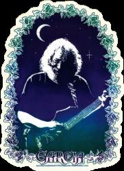 "Grateful Dead Jerry Garcia Roses - Window Sticker / Decal (4.5"" X 6"")"