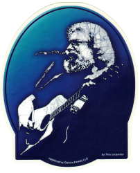 "Grateful Dead Jerry Garcia Acoustic - Window Sticker / Decal (4.75"" X 6"")"