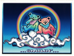 "Grateful Dead Bears Smilin' - Window Sticker / Decal (6"" X 4.5"")"
