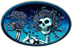 """Grateful Dead Skull and Roses - Window Sticker / Decal (6"""" X 4"""")"""