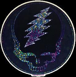"Grateful Dead Sparkling Steal Your Face - Window Sticker / Decal (5.5"" Circular)"