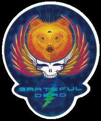 """Grateful Dead Third Eye Bear - Window Sticker / Decal (5.5"""" X 6.5"""")"""