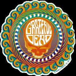 """Grateful Dead Orange Sunshine Stealie - Window Sticker / Decal (5.5"""" Circular)"""