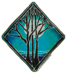 "Night Tree - Window Sticker / Decal (5.25"" X 6"")"