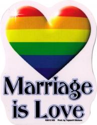 "Marriage is Love - Window Sticker / Decal (4"" x 5"")"