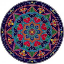 "Inspiration Mandala - Window Sticker / Decal (5.5"" Circular)"