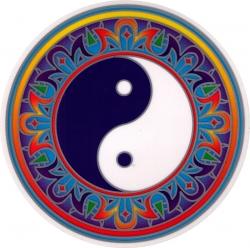 "Yin Yang - Window Sticker / Decal (5.5"" Circular)"