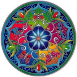 "Wildflower Mandala - Window Sticker / Decal (5.5"" Circular)"