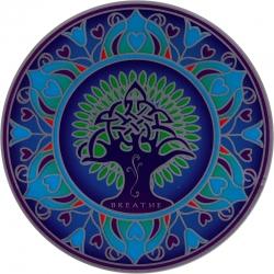 "Earth Mandala - Window Sticker / Decal (5.5"" Circular)"