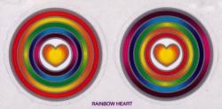 "Rainbow Hearts - Window Sticker / Decal (2.25"" X 2.25"" each)"