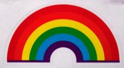 "Little Rainbow - Window Sticker / Decal (4.5"" X 2.5"")"