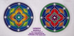"Harmony Mandalas - Window Sticker / Decal (2.25"" X 2.25"" each)"