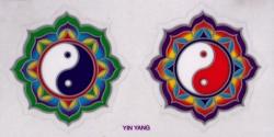 """Yin Yang - Window Sticker / Decal (2.25"""" X 2.25"""" each)"""