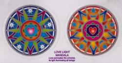 """Love Light Mandalas - Window Sticker / Decal (2.25"""" X 2.25"""" each)"""