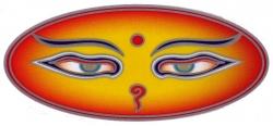 "Buddha Eyes - Window Sticker / Decal (4.75"" X 2.25"")"