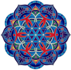 "Circle of Friends - Window Sticker / Decal (5.5"" Circular)"