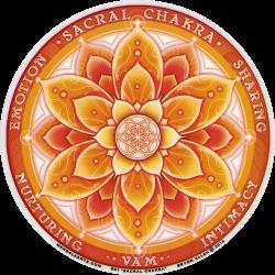 "Sacral Chakra - Window Sticker / Decal (4.5"" Circular)"