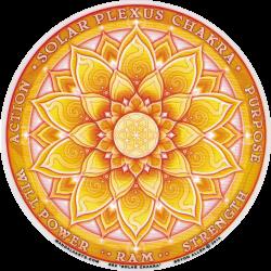 "Solar Chakra - Window Sticker / Decal (4.5"" Circular)"