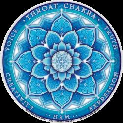 "Throat Chakra - Window Sticker / Decal (4.5"" Circular)"