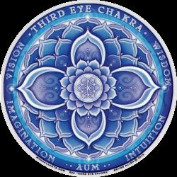"Third Eye Chakra - Window Sticker / Decal (4.5"" Circular)"