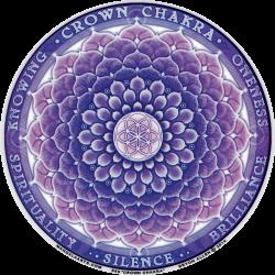 "Crown Chakra - Window Sticker / Decal (4.5"" Circular)"