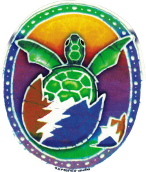 "Grateful Dead Hatching Terrapin - Window Sticker / Decal (5"" X 5.75"")"