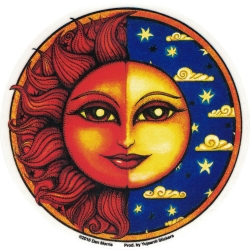 "Celestial Twilight - Window Sticker / Decal (4.5"" Circular)"