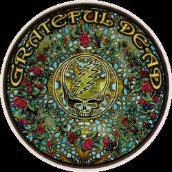"Grateful Dead Woodcut Mandala - Window Sticker / Decal (4.5"" Circular)"