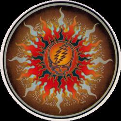 "Grateful Dead Sun - Window Sticker /Decal (4.5"" Circular)"