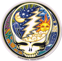 Night and Day Steal Your Face - Grateful Dead - Window Sticker / Decal