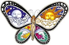 WA833 - Dan Morris Butterfly Nymph - Window Sticker