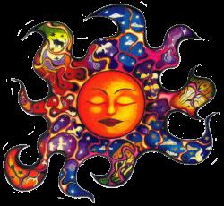 "Sleeping Sun - Window Sticker / Decal (4.5"" X 4.5"")"