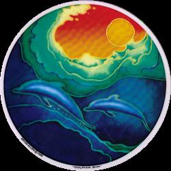 Dolphin Sun - Window Decal