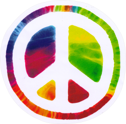 """Psychedelic Peace Sign - Window Sticker / Decal (4.75"""" Circular)"""