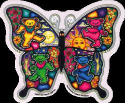 """Dancing Butterfly - Grateful Dead - Window Sticker / Decal (5"""" X 4"""")"""