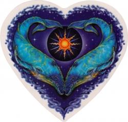 "Whale Heart - Window Sticker / Decal (4.5"" x 4.5"")"