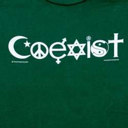 Hemp Green Coexist T-Shirt