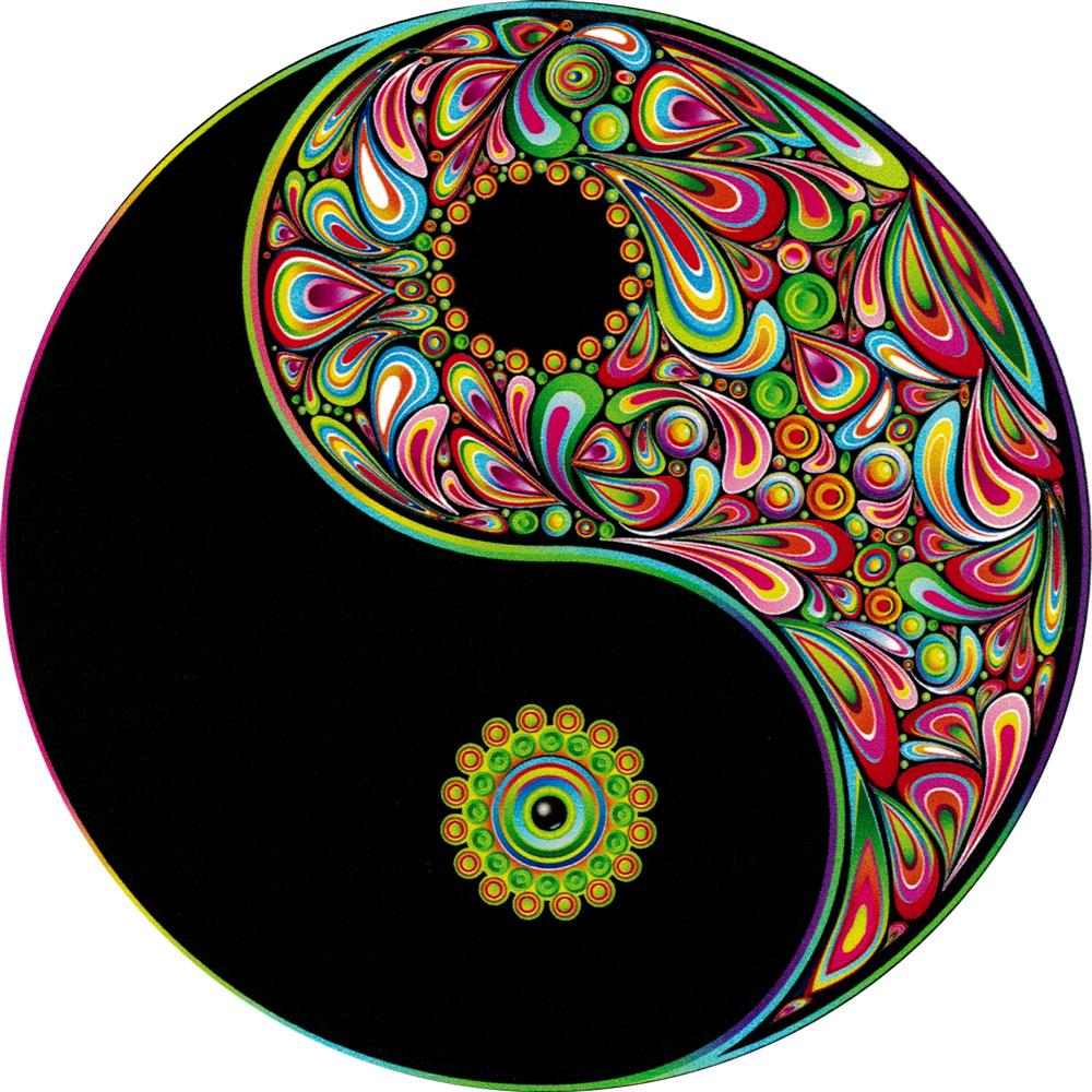 Love Harmony Yin Yang Symbol Bumper Sticker Decal 4 5