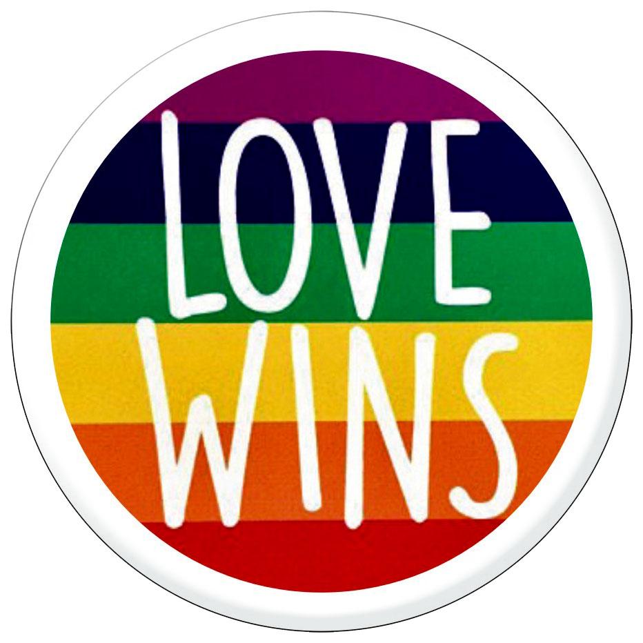 Love wins button pinback 1 5