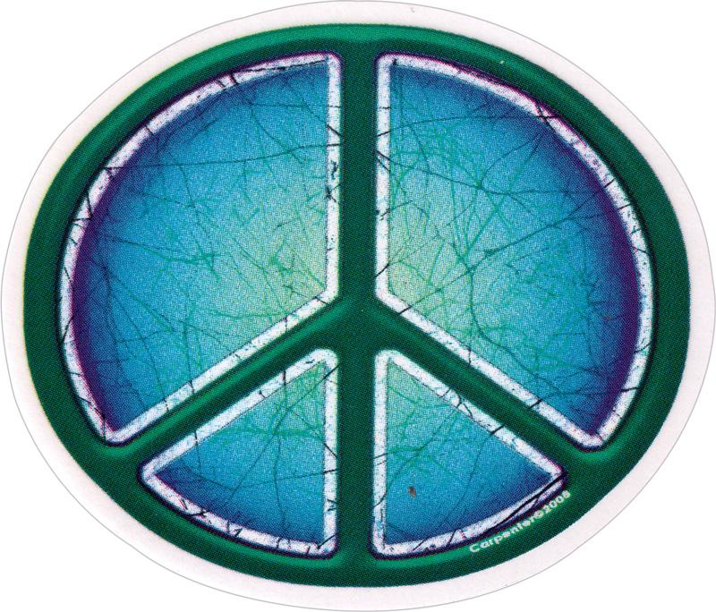 Batik Peace Sign Symbol Window Sticker Decal Peace Resource