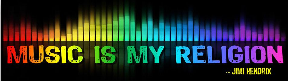 Music Is My Religion Jimi Hendrix Small Bumper Sticker