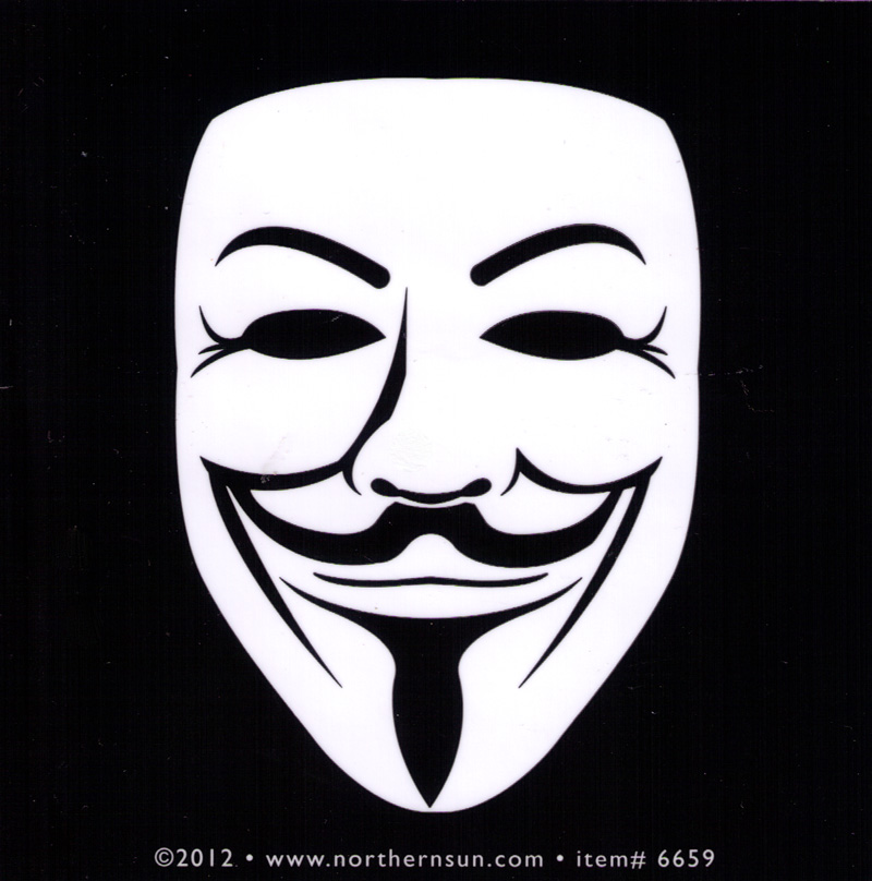 guy fawkes face   decal  4 u0026quot  square