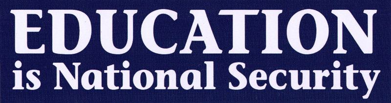 Education is national security small bumper sticker decal 5 5 x 1 5